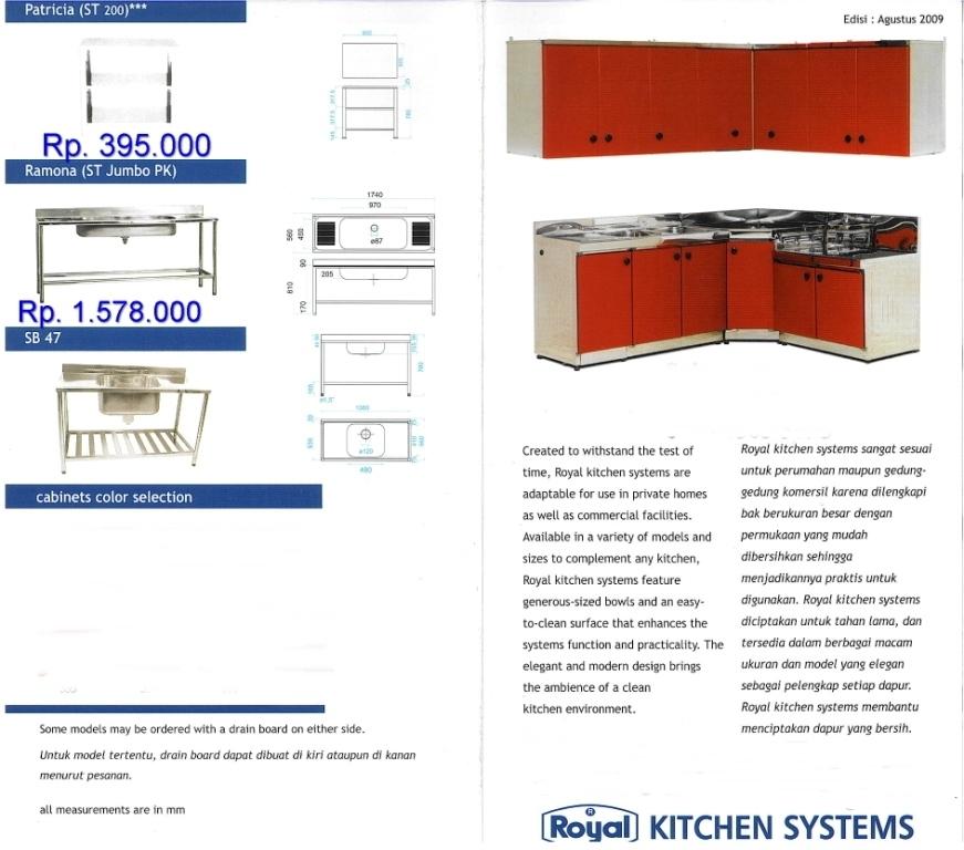 Kitchen Set Royal Kitchen Set Royal 1 – KITCHEN SET & SINK ROYAL